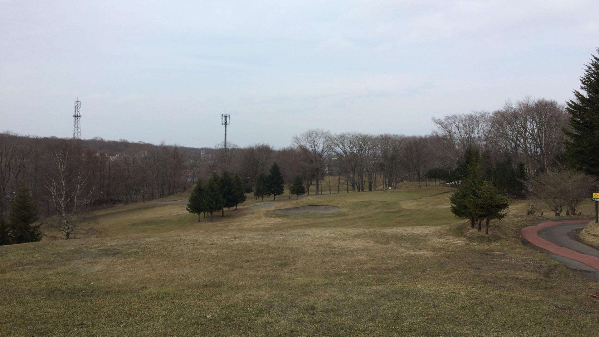 ちとせインターゴルフで寒々リベンジラウンド