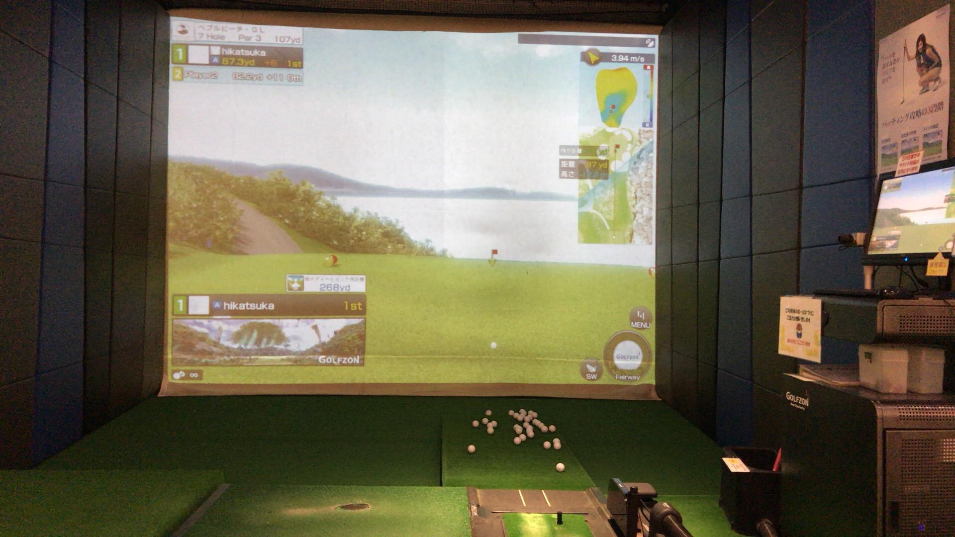 AQUA札幌でシミュレーションゴルフ@ペブル・ビーチ