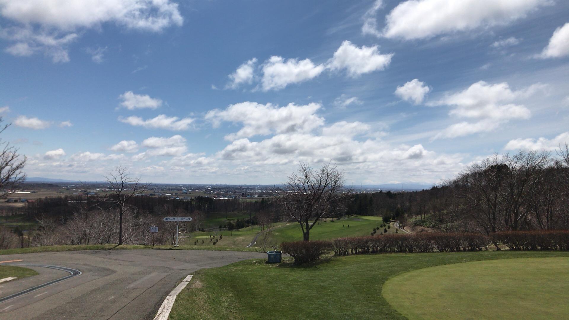 石狩平原CCで春の強風ラウンド