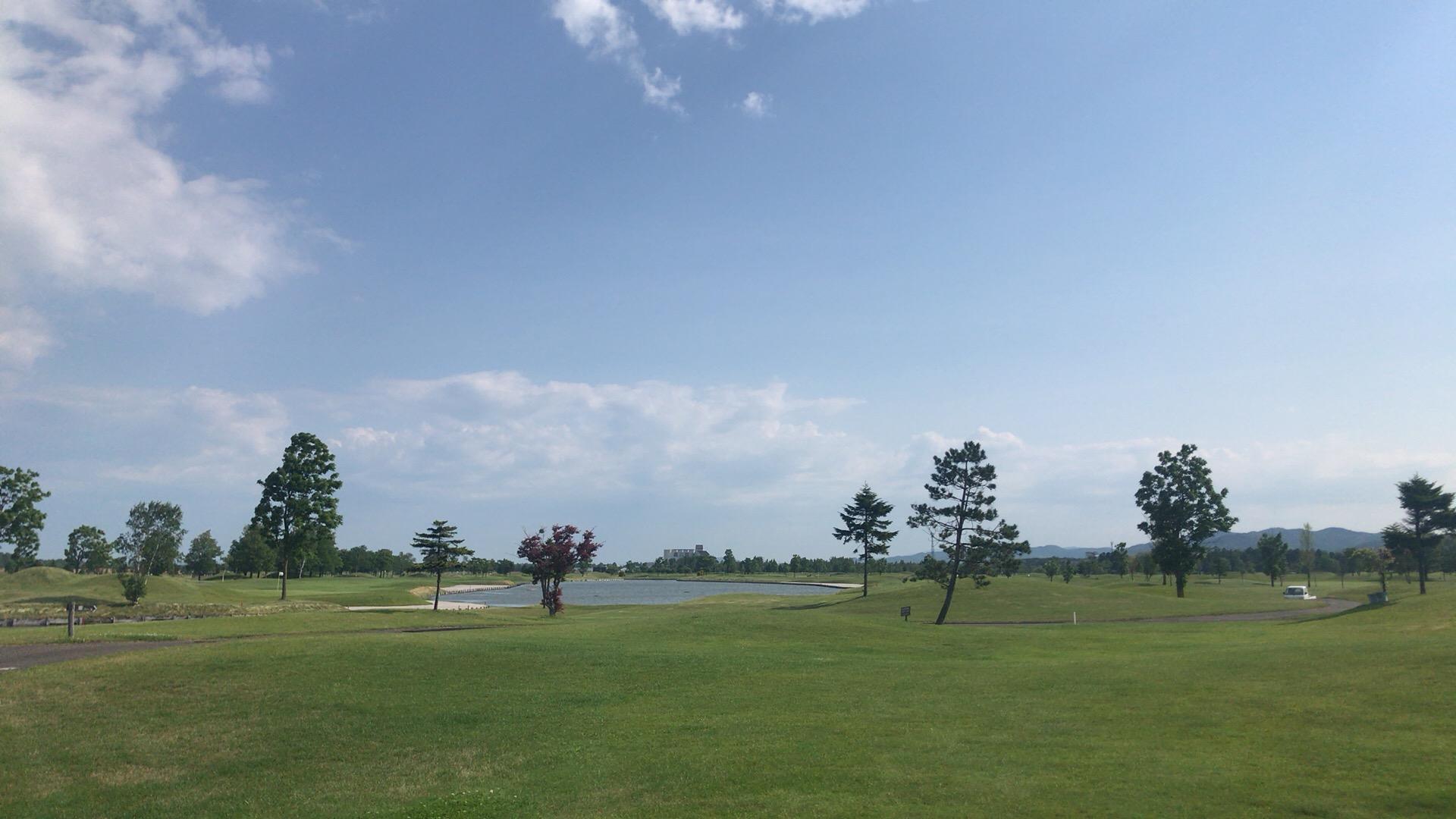 ゴルフ5C美唄Cでなかなかの強風ラウンド