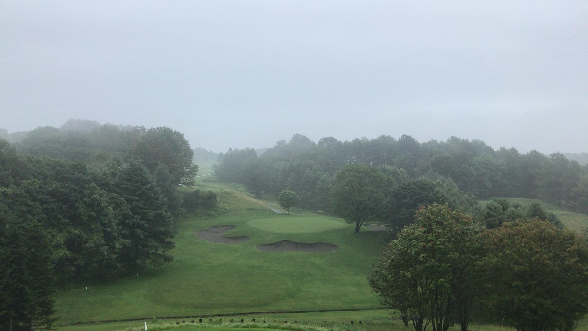 樽前CCで早朝濃霧ラウンド
